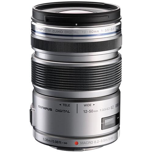 Olympus M.ZUIKO ED 12-50mm f/3.5-6.3 EZ Micro 4/3 Lens (Silver)