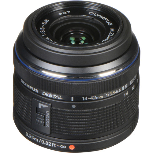 Olympus M.Zuiko Digital ED 14-42mm f/3.5-5.6 II R Lens (Black)