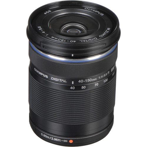 Olympus M.Zuiko Digital ED 40-150mm f/4-5.6 R Lens (Black)