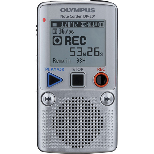 Olympus Note Corder DP-201 Digital Recorder