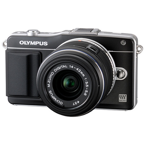 Olympus E-PM2 Mirrorless Micro Four Thirds Digital Camera with 14-42mm f/3.5 - 5.6 II Lens (Black)