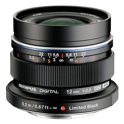 Olympus M.ZUIKO DIGITAL ED 12mm f/2.0 Lens Limited Edition (Black)