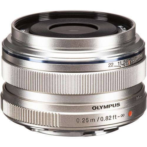Olympus M.Zuiko Digital 17mm f/1.8 Lens (Silver)