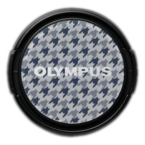 Olympus LC-37PR Gray Checked Decorative Lens Cap