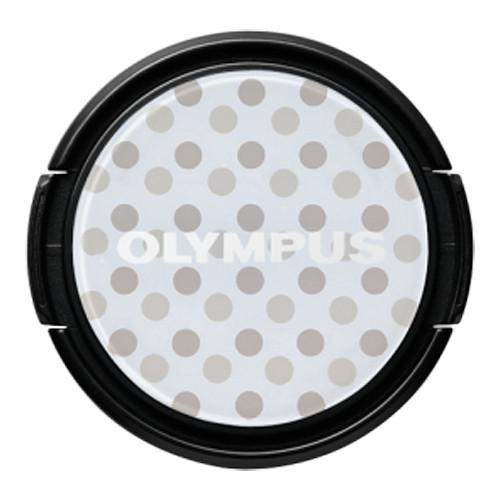 Olympus LC-37PR Gray Polka Dot Decorative Lens Cap