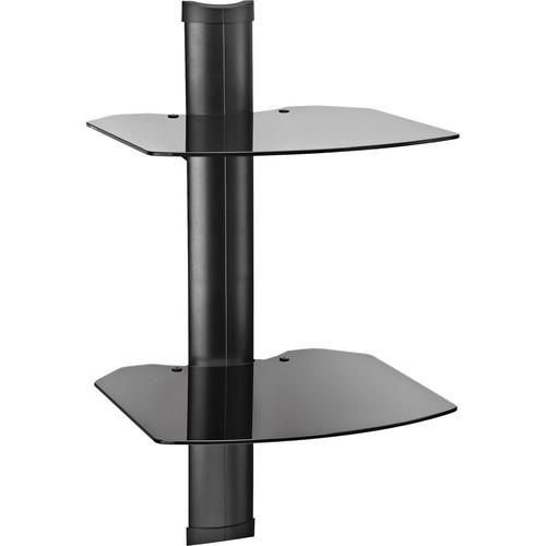 OmniMount Tria 2 B Wall Shelf System (Black with Black Glass)