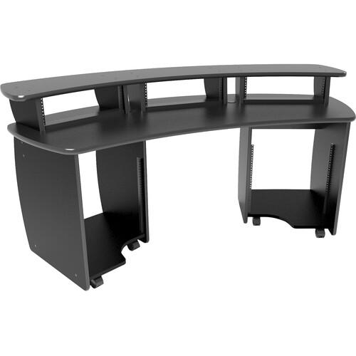 Omnirax OmniDesk Audio / Video Workstation (Black Melamine)