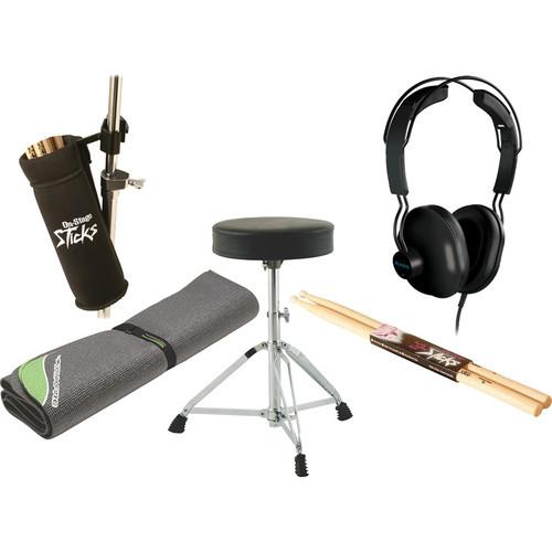 On-Stage Electronic Drum Essentials Bundle w/ 4x4 Drum Mat
