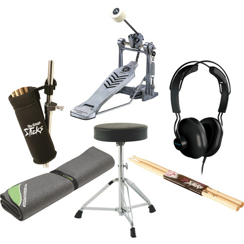 On-Stage Electronic Drum Value Bundle w/ 4x4 Drum Mat