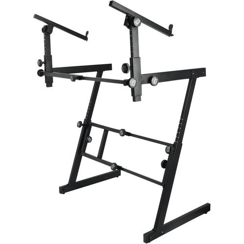 On-Stage KS7365EJ Heavy Duty Folding-Z Two-Tier Keyboard Stand