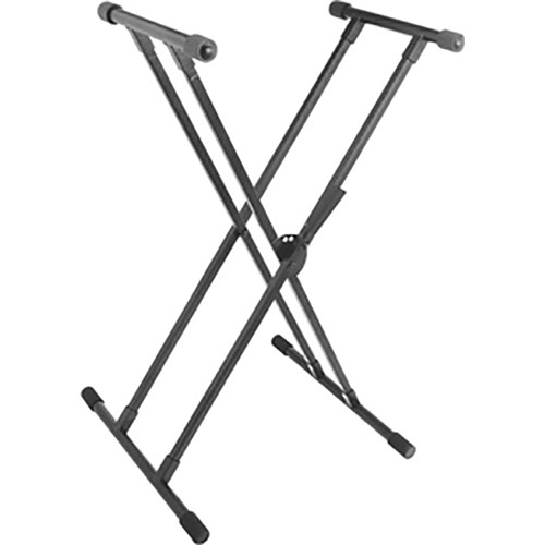 On-Stage KS8391 Double-X Lok-Tight Quiksqueeze Keyboard Stand