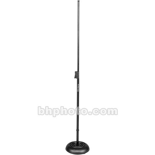 On-Stage MS7201QRB Round Base Quick-Release Telescoping Microphone Stand (Black)