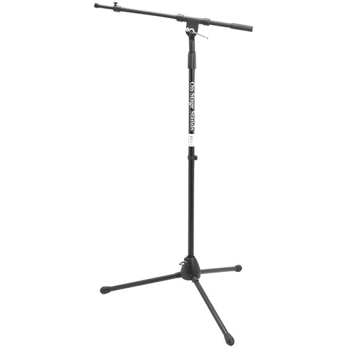 On-Stage MS7701TB Telescoping Euro-Boom Mic Stand (Black)
