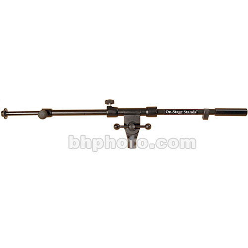 On-Stage MSA9720TB All-Steel Telescoping Boom Arm (Black)