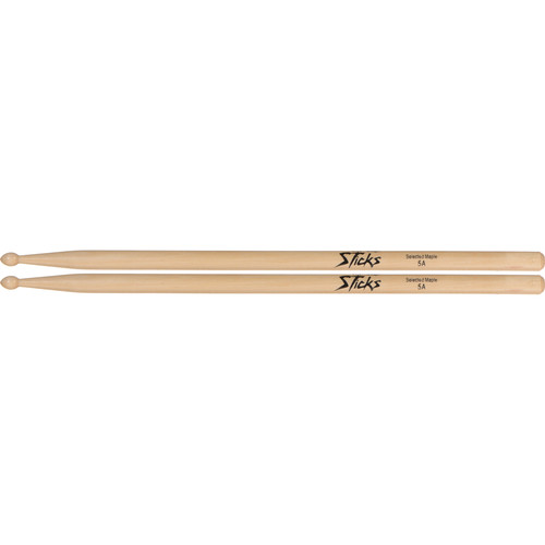 On-Stage Wood Tip Maple Wood 5A Drumsticks (Pair)