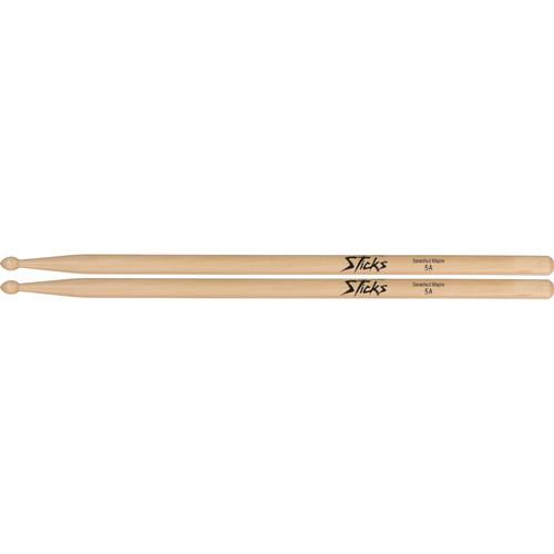 On-Stage Wood Tip Maple Wood Drum Sticks (Pair)