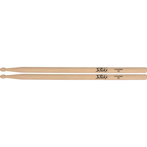 On-Stage Wood Tip Maple Wood 5B Drumsticks (Pair)