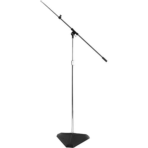 On-Stage SMS7630B  Hex-Base Studio Microphone Stand w/ Telescoping Boom (Black)
