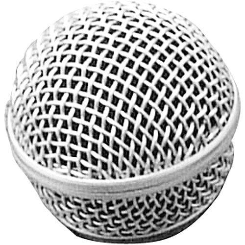 On-Stage SP58 - Replacement Steel Mesh Grille for Round Capsule Handheld Microphones (Matte Grey)