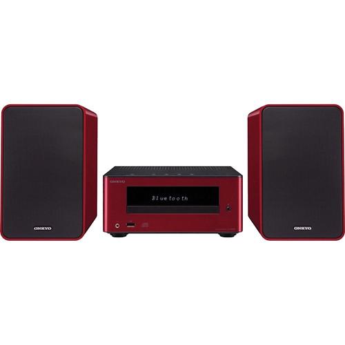 Onkyo CS-355 CD Hi-Fi Mini System with Bluetooth (Red)