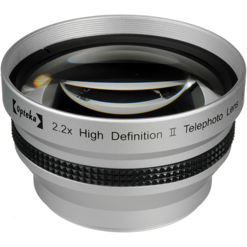 Opteka 2.2x 58mm High Definition II Telephoto Lens for Digital Cameras (Silver)