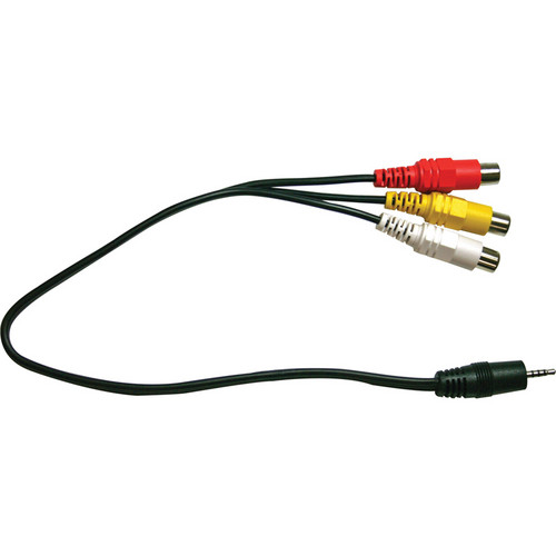 "Optoma Technology BC-MJAVXY0S RCA Female to 2.5mm Male Cable 11.81"" (30cm)"