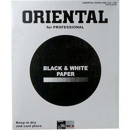"Oriental Seagull VC-RCII Black & White Variable Contrast (RC) Resin Coated RPF Glossy Paper 11x14"" - 25 Sheets"