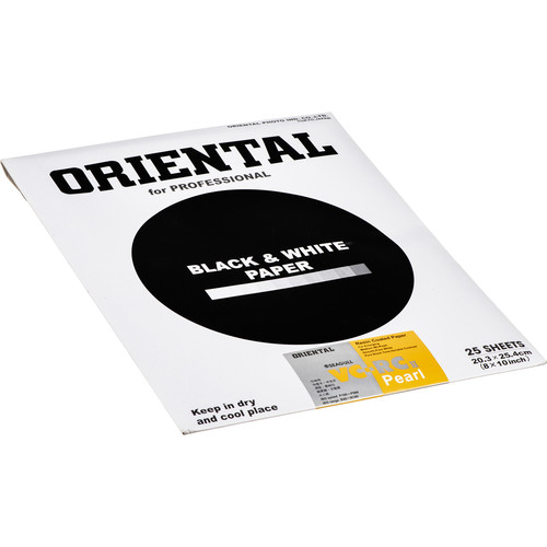 """Oriental Seagull VC-RCII Black & White Variable Contrast (RC) Resin Coated RPF Pearl Paper 8x10"""" - 25 Sheets"""