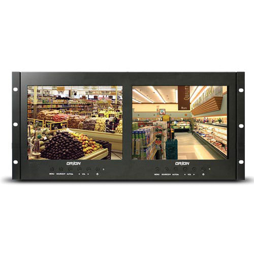 """Orion Images Rack Mount Ready Series Dual 9.7"""" Rack-Mountable LCD CCTV Monitors"""