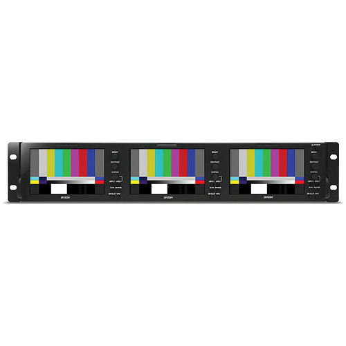 "Orion Images OIC-5003 Rack Mount Broadcast Monitor with Three 5"" Displays"