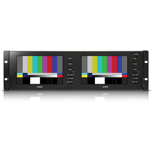 "Orion Images OIC-7002 Rack Mount Broadcast Monitor with Dual 7"" Displays"