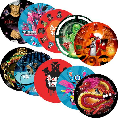 Ortofon Slipmats - Pair of Ortofon Slipmats for DJ Turntables