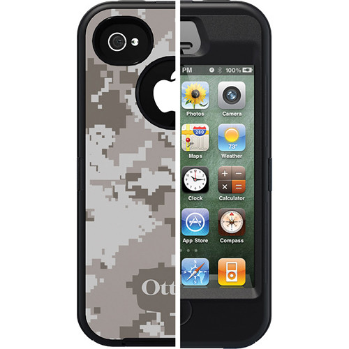 Otter Box Defender Case for iPhone 4/4s (Blizzard Camo/Black)