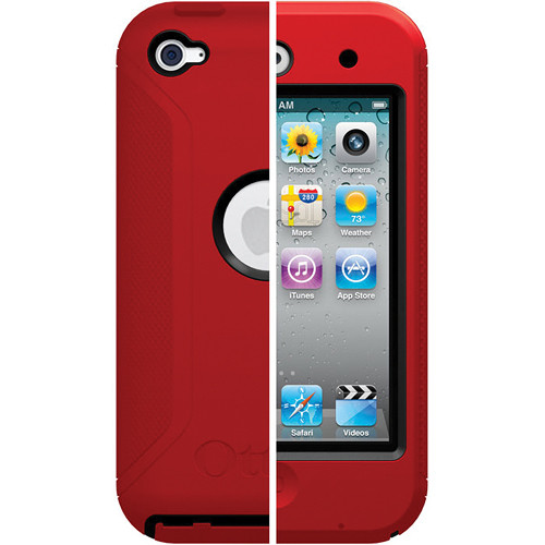 Otter Box iPod touch 4th Generation Defender Series Case (Black/Red)
