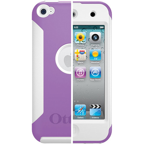 Otter Box iPod Touch 4th Generation Commuter Series Case (Purple Plastic / White Silicone)