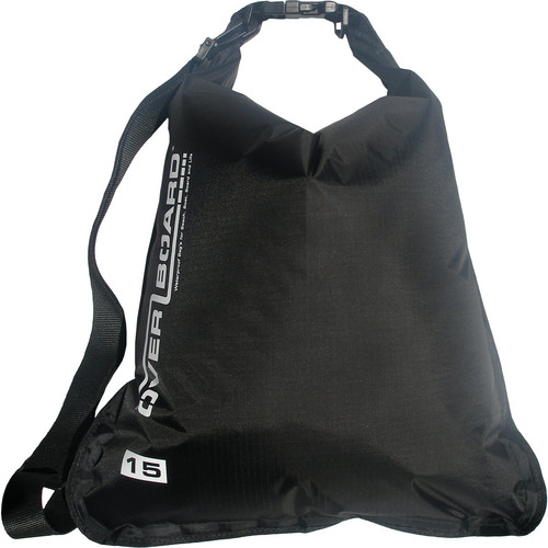 OverBoard Waterproof Dry Flat Bag (15 L, Black)