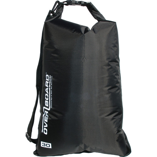 OverBoard Waterproof Dry Flat Bag (30 L, Black)