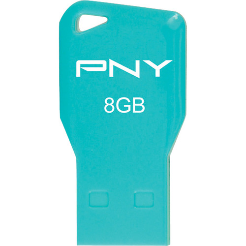 PNY Technologies 8GB Key Attache USB 2.0 Flash Drive (Aqua)