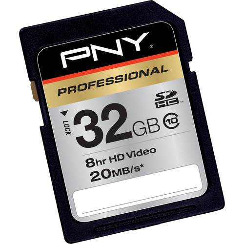 PNY Technologies 32GB SDHC Memory Card High Speed Class 10