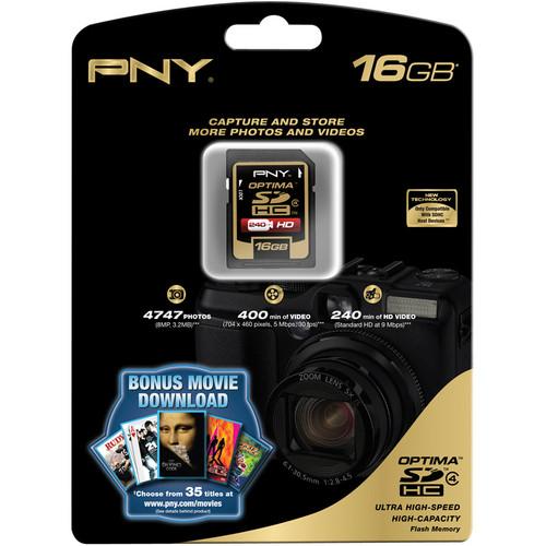 PNY Technologies 16GB SDHC Memory Card Premium Class 4