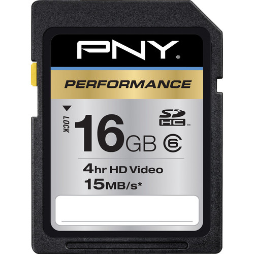 PNY Technologies 16GB PNY Technologies SDHC Memory Card Performance Series Class 6