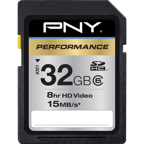 PNY Technologies 32GB PNY Technologies SDHC Memory Card Performance Series Class 6