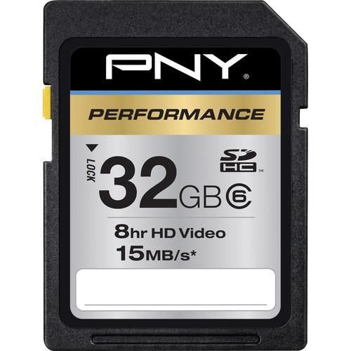 PNY Technologies 32GB PNY Technologies SDHC Memory Card Performance Series Class 6