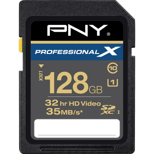 PNY Technologies 128 GB SDXC Memory Card Professional X Series Class 10 UHS-I