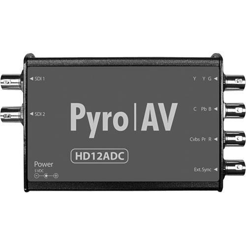 PYRO AV HD12ADC Multi-Rate 12-Bit Analog Video to HD/SD-SDI Decoder