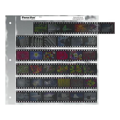 Pana-Vue 35mm Negative Pages (6 Strip/6 Frame, 25 Pages)