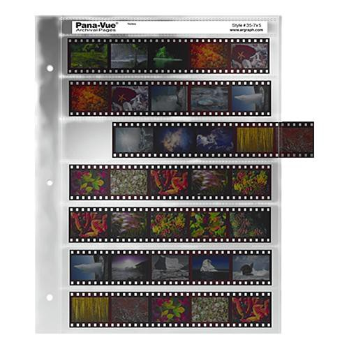 Pana-Vue 35mm Negative Pages (7 Strip/5 Frame, 100 Pages)