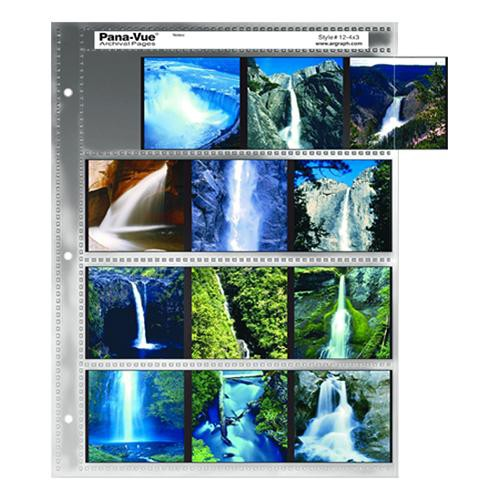 Pana-Vue 120 Archival Negative Page (4 Strip, 3 Frames, 100 Pages)