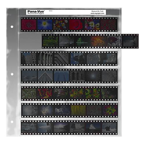 Pana-Vue 35mm Negative Pages (7 Strip/6 Frame, 100 Pages)