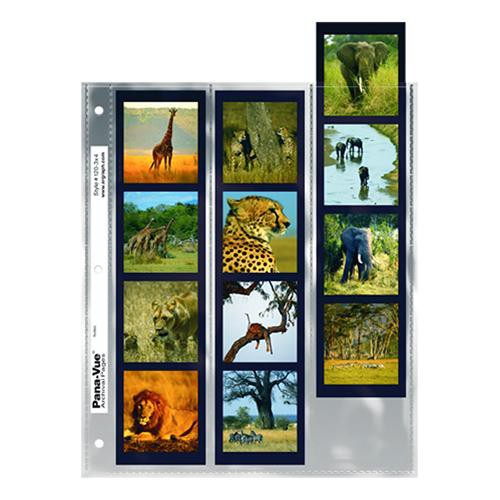 Pana-Vue 120 Archival Negative Page (3 Strip, 4 Frames, 100 Pages)